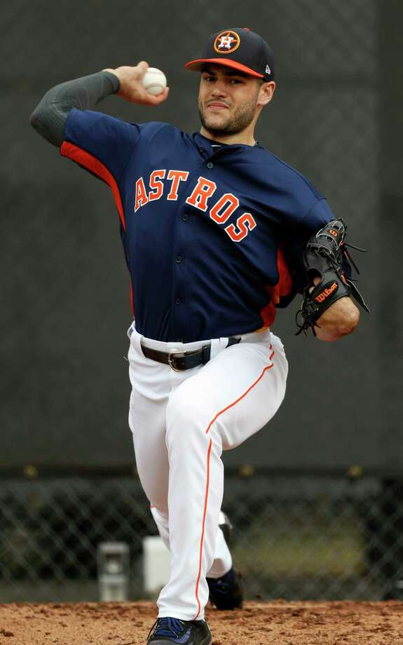 Houston Astros starting pitcher Lance McCullers pitches during spring training at The Ballpark of the Palm Beaches, in West Palm Beach, Florida, Thursday, February 16, 2017. ( Karen Warren / Houston Chronicle ) Photo: Karen Warren, Staff Photographer / 2017 Houston Chronicle