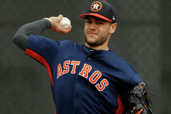 Houston Astros starting pitcher Lance McCullers pitches during spring training at The Ballpark of the Palm Beaches, in West Palm Beach, Florida, Thursday, February 16, 2017. ( Karen Warren / Houston Chronicle )