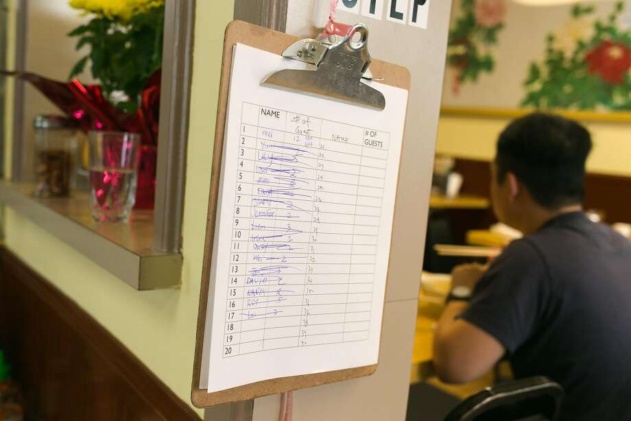 The waiting list to be seated at Hai Ky Mi Gia in S.F. Photo: Jen Fedrizzi, Special To The Chronicle