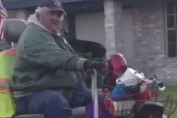 Mario Cardona, 59, is charged with animal cruelty for dragging a dog by its neck behind his motorized scooter.