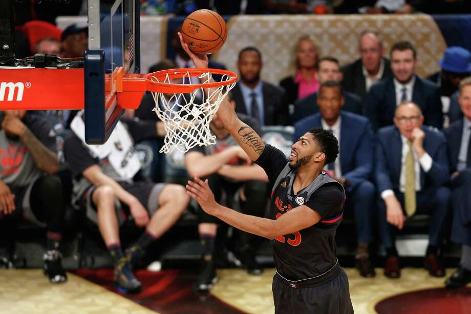 New Orleans big man Anthony Davis scored 52 points on his home floor, breaking Wilt Chamberlain's All-Star Game record by 10. Photo: Jonathan Bachman, Stringer / 2017 Getty Images