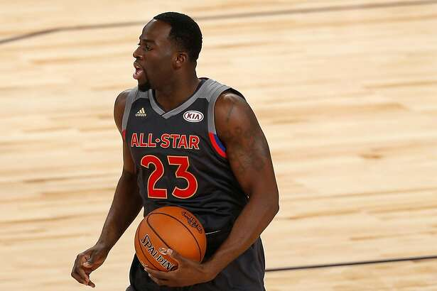 NEW ORLEANS, LA - FEBRUARY 19:  Draymond Green #23 of the Golden State Warriors handles the ball in the first half of the 2017 NBA All-Star Game at Smoothie King Center on February 19, 2017 in New Orleans, Louisiana. NOTE TO USER: User expressly acknowledges and agrees that, by downloading and/or using this photograph, user is consenting to the terms and conditions of the Getty Images License Agreement.  (Photo by Jonathan Bachman/Getty Images)