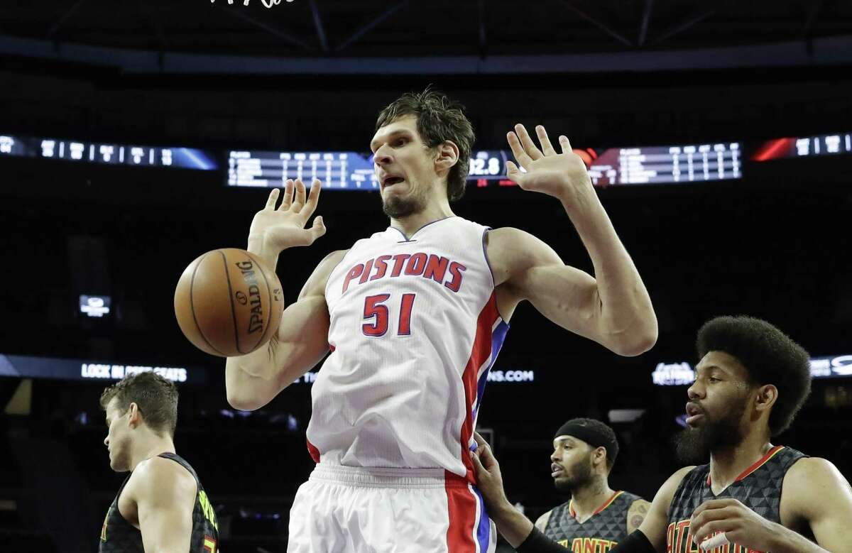"""""""What I left in San Antonio was amazing - people cheering my name,"""" Boban Marjanovic said. """"But I move here (to Detroit), and people cheer my name the same."""""""