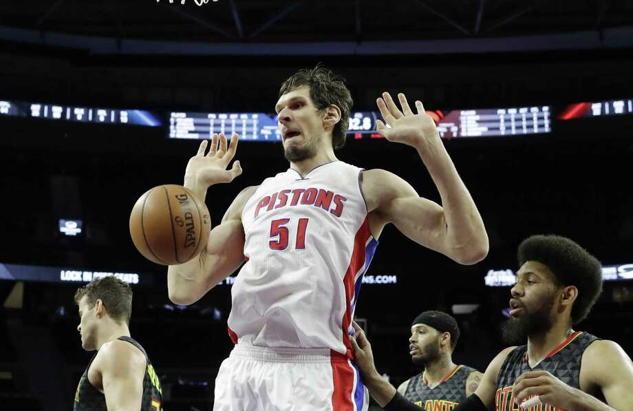 """What I left in San Antonio was amazing — people cheering my name,"" Boban Marjanovic said. ""But I move here (to Detroit), and people cheer my name the same."" Photo: Carlos Osorio / Associated Press / Copyright 2017 The Associated Press. All rights reserved."