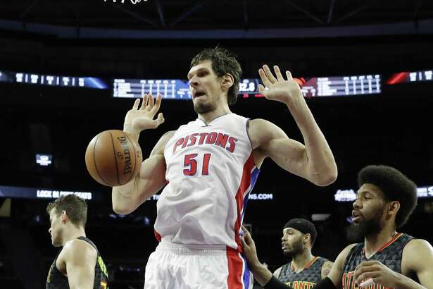 """What I left in San Antonio was amazing — people cheering my name,"" Boban Marjanovic said. ""But I move here (to Detroit), and people cheer my name the same."""