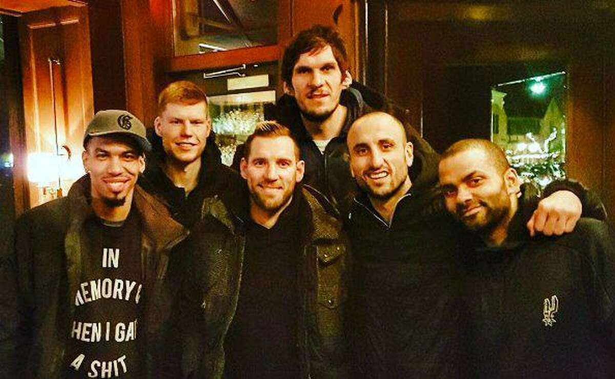 Boban Marjanovic recently dined with his former Spurs teammates when San Antonio played at Detroit.