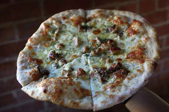 Mushroom pizza at Barbaro