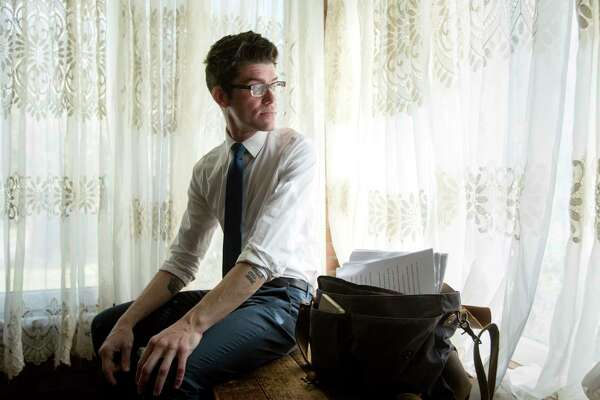 ---EMBARGOED UNTIL 02/21/2017 AT 12:00 PM--- Zachary Turpin, a University of Houston graduate student, poses for a portrait at his home, Thursday, Feb. 16, 2017, in Houston. Turpin recently discovered a previously unknown novella by the poet Walt Whitman.