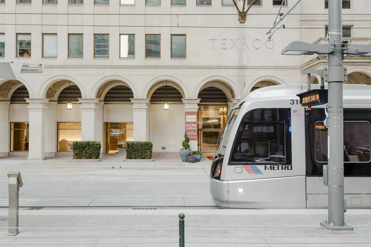 One of Metro's 39 newest railcars passes along Capitol in downtown Houston. Metro bought the vehicles from CAF U.S.A. when three new segments of rail opened after 2012. Since, the performance and specifics of the cars has led to contract discussions between Metro and CAF to determine how much Metro is owed for the problems.