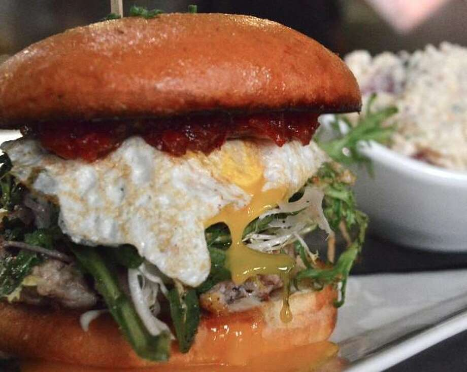 Burger at Boiler House Texas Grill & Wine Garden Photo: Courtesy Boiler House