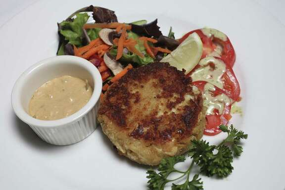 Crab cake at Frederick's Bistro