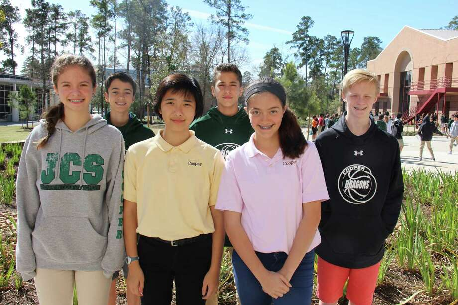 John Cooper School students Andrea Perez Florez, Grace Lawson, Mallory Bechtel, Gabriel Sanchez, Gibson Field and Sadie Robb earned Gold Key Awards for writing. Photo: Submitted
