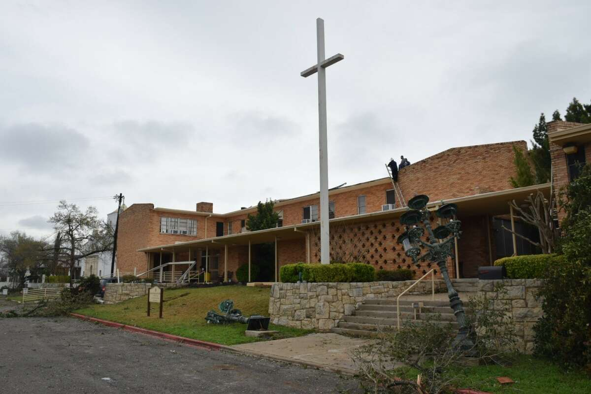 Nearly every building on the campus of St. Anthony De Padua Catholic Church, 102 Lorenz Road, sustained some form of damage from a tornado and heavy storms that hit the church Sunday night, Feb. 19, 2017.