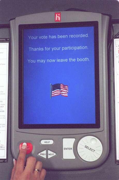eSlate voting system (Chronicle File Photo) Photo: Melissa Phillip, Staff / Houston Chronicle