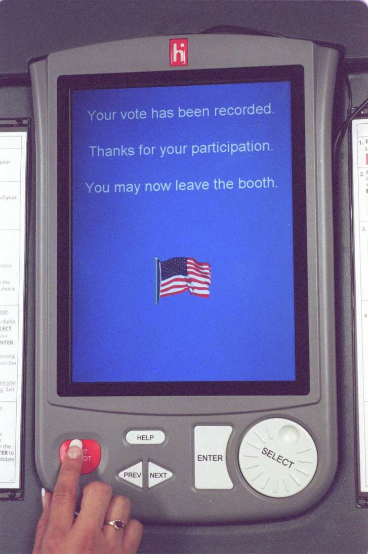 eSlate voting system (Chronicle File Photo)