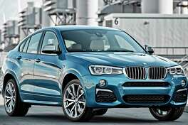 The 2017 BMW X4 M40i comes with a 3.0-liter turbocharged inline six-cylinder engine with 355 horsepower and 343 foot-pounds of torque, connected to an eight-speed automatic transmission.