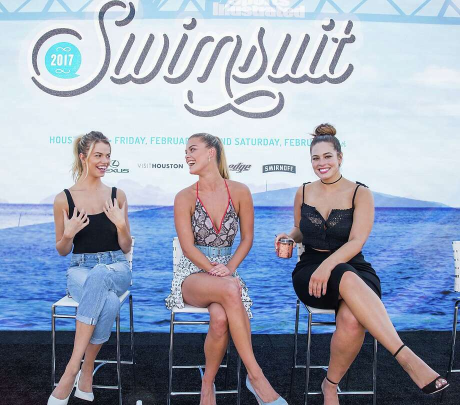 HOUSTON, TX - FEBRUARY 18:  (L-R) SI Swimsuit models Hailey Clauson, Nina Agdal, and Ashley Graham speak during a panel at the VIBES by Sports Illustrated Swimsuit 2017 launch festival on February 18, 2017 in Houston, Texas.  (Photo by Rick Kern/Getty Images for Sports Illustrated) Photo: Rick Kern, Stringer / 2017 Getty Images