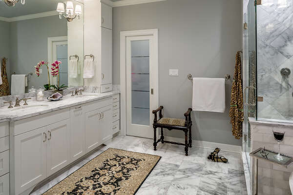 The Megna family in Sugar Land had all three of their bathrooms remodeled.