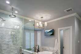 All three bathrooms in Jeanne and Jeff Megna's Sugar Land were remodeled.