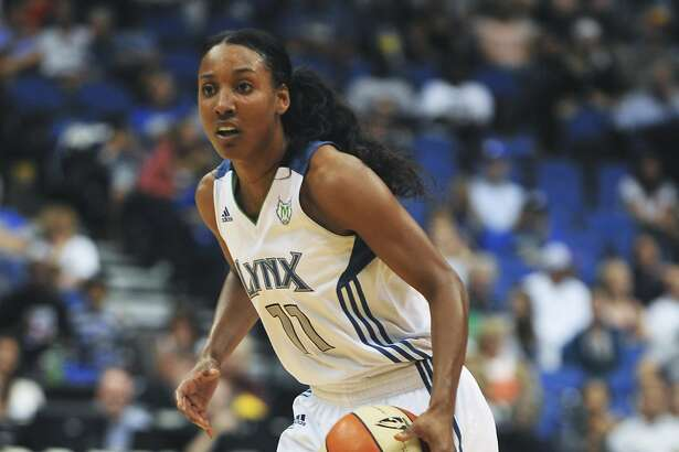 Minnesota Lynx's Candice Wiggins during a WNBA basketball game against the Los Angeles Sparks Saturday, Aug. 20, 2011 in Minneapolis. (AP Photo/Tom Olmscheid)