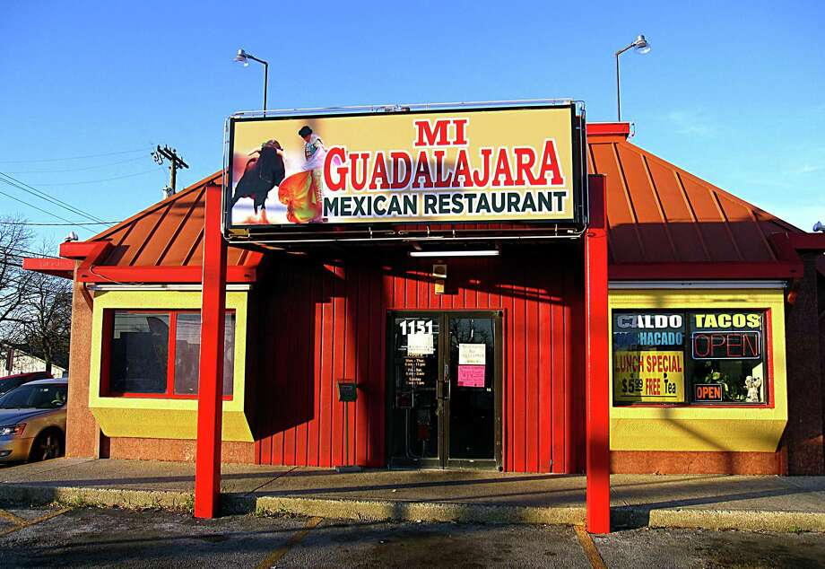 Mi Guadalajara: 1151 Culebra Road, San Antonio, TX 78201Date: 12/12/2017 Score: 59Highlights: Food not held at correct temperature (beans, eggs); food not protected from cross-contamination; food contaminated by bare-hand contact by employees discarded; employees must wash hands before putting on gloves; leak at mop sink drain needs repairing; no Certified Food Manager present at time of inspection; employees must have food handlers certificates; consumer advisory consumption needed for raw, undercooked foods; prepared foods must be labeled with expiration date; accurate thermometers not found in coolers; employees in kitchen must wear hair restraints; food must be thawed using correct methods; food found stored in non-food grade bags Photo: Mike Sutter /San Antonio Express-News