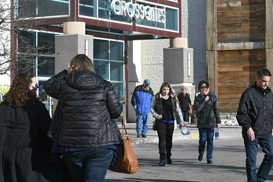 Shoppers come and go at Crossgates Mall on Monday, Feb. 20, 2017 in Guilderland, N.Y. (Lori Van Buren / Times Union) Photo: Lori Van Buren / 20039731A