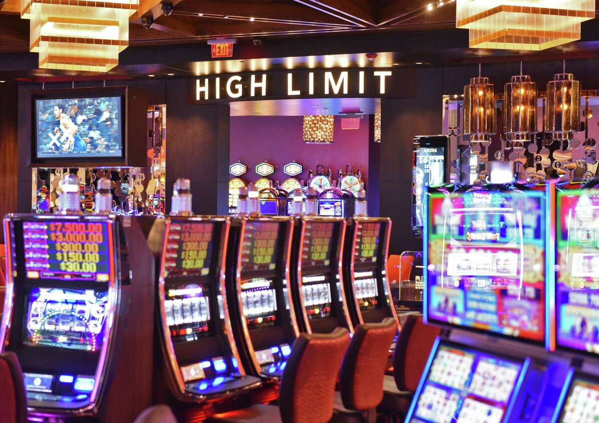 Slot machines at the entrance to the High Limit room as the Rivers Casino and Resort opens Wednesday Feb. 8, 2017 in Schenectady, NY. (John Carl D'Annibale / Times Union) ORG XMIT: MER2017020812590046