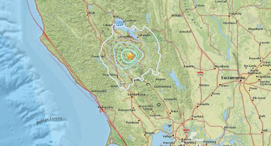 An earthquake with preliminary magnitude of 4.1 struck near The Geysers on Monday, Feb. 20, 2017. Photo: USGS