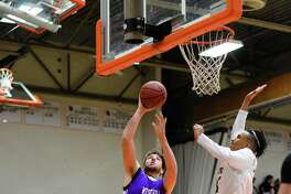 Westhill's Hunter Semmel shoots against Stamford on Monday night.