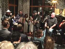 David Hidalgo leading musicians at benefit for Los Cenzontles