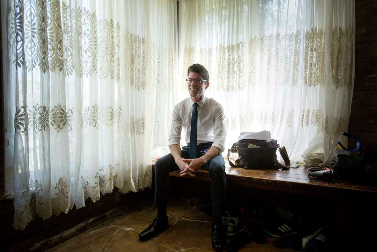 ---EMBARGOED UNTIL 02/21/2017 AT 12:00 PM--- Zachary Turpin, a University of Houston graduate student, poses for a portrait at his home, Thursday, Feb. 16, 2017, in Houston. Turpin recently discovered a previously unknown novella by the poet Walt Whitman. ( Jon Shapley / Houston Chronicle )