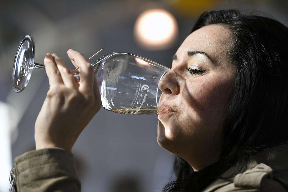 FILE-- The 2017 San Francisco Chronicle Wine Competition public tasting, held at the Fort Mason Center in San Francisco on Saturday February 18, 2017.This February, the San Francisco Chronicle Wine Competition celebrates its 18-year anniversary as the largest competition of American wines in the world. Photo: Michael Short, Special To The Chroincle