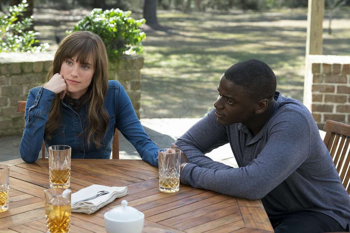 This image released by Universal Pictures shows Allison Williams, left, and Daniel Kaluuya in a scene from,