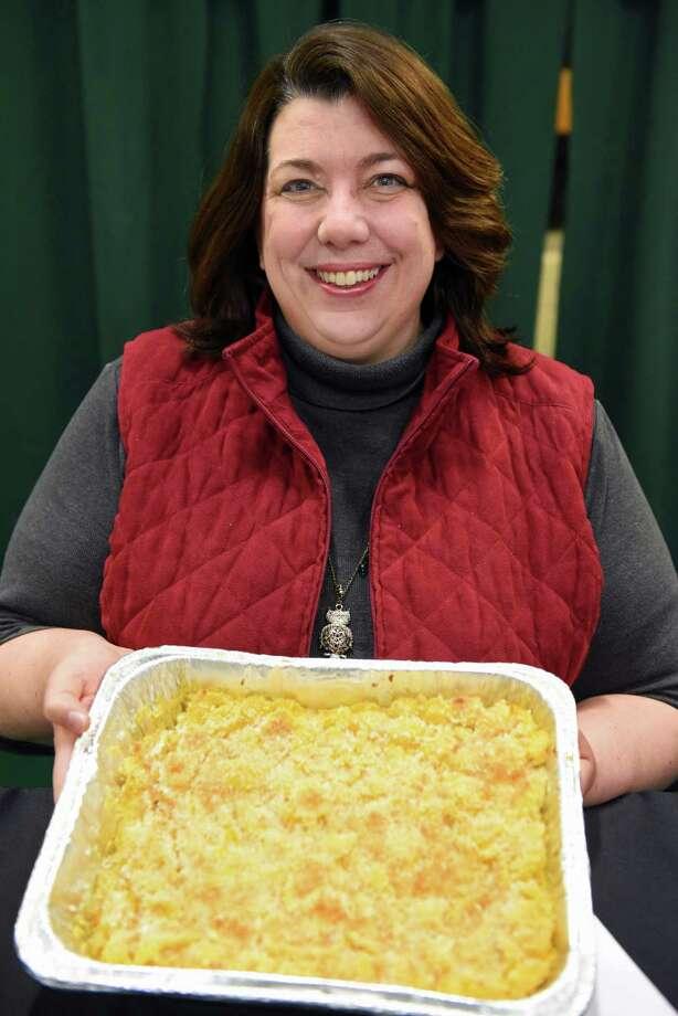 Home cook competition finalist Bonnie Kerr of East Greenbush at the 8th Annual Mac-n-Cheese Bowl at Siena College Saturday Feb. 18, 2017 in Colonie, NY.  (John Carl D'Annibale / Times Union) Photo: John Carl D'Annibale / 20039708A