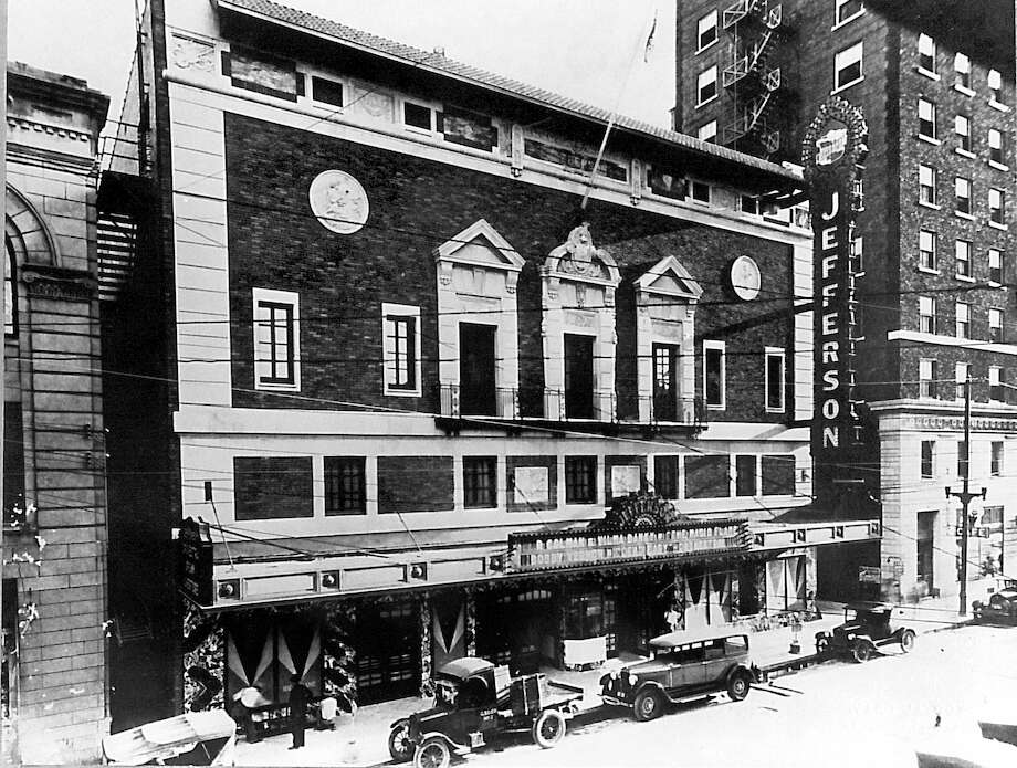 Beaumont's Jefferson Theatre. Photo taken in 1927. Enterprise archive photo