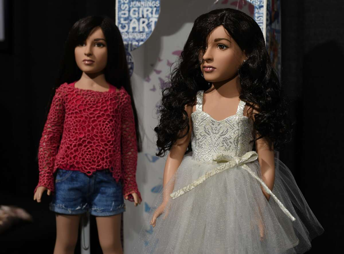Tonner Doll, based in Kingston, New York, shows off what it believes is the first transgender doll on the market called the Jazz Jennings doll during the American International Toy Fair in New York on February 19, 2017. The doll is based on Jazz Jennings, the teenage transgender subject of the TLC documentary series