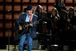 THE 50th ANNUAL CMA AWARDS - The 50th Annual CMA Awards, hosted by Brad Paisley and Carrie Underwood, broadcasts live from the Bridgestone Arena in Nashville, Wednesday, November 2 (8:00-11:00 p.m. EDT), on the ABC Television Network. (Image Group LA/ABC via Getty Images) GEORGE STRAIT