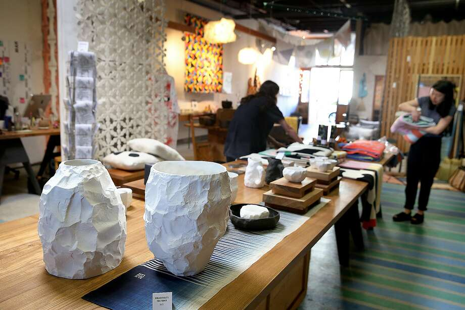 The Workshop Residence in Dogpatch has fine bone porcelain China by Max Lamb. Photo: Liz Hafalia, The Chronicle