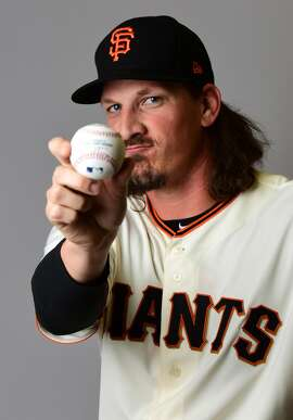 SCOTTSDALE, AZ - FEBRUARY 20:  Jeff Samardzija #29 of the San Francisco Giants poses for a portait during a MLB photo day at Scottsdale Stadium on February 20, 2017 in Scottsdale, Arizona.  (Photo by Jennifer Stewart/Getty Images)