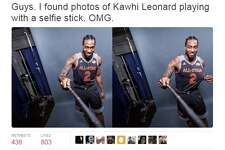 Kawhi Leonard may have glitched during his second consecutive All-Star Game appearance in New Orleans, because new photos show the stoic Spur carrying a geeky selfie stick and smile to match.