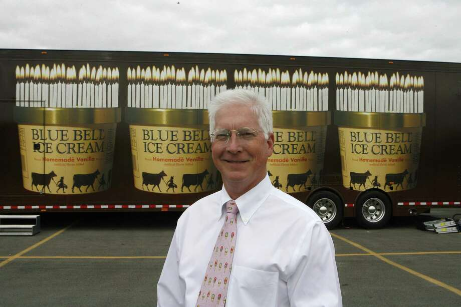Blue Bell's Paul Krusestands in front of an 18-wheel trailer truck in this 2006 photo. Kruse, who led Blue Bell Creameries through enormous growth, navigated it through a food safety crisis in 2015 and led the company through an ambitious return to market, is retiring. Photo: Houston Chronicle /File Photo / Houston Chronicle