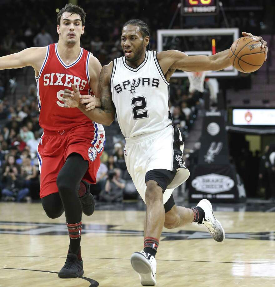 Kawhi Leonard key stat: Pick-and-roll ball handlerLeonard is averaging 1.07 points per possession as the pick-and-roll ball handler, third in the league among qualified players. Despite his prowess, Leonard ranks 30th in pick-and-roll possessions per game. Bumping that up by one or two possessions per game would not drastically alter the Spurs' offense and could help create more efficient scoring opportunities.    Photo: Tom Reel, Staff / San Antonio Express-News / 2017 SAN ANTONIO EXPRESS-NEWS
