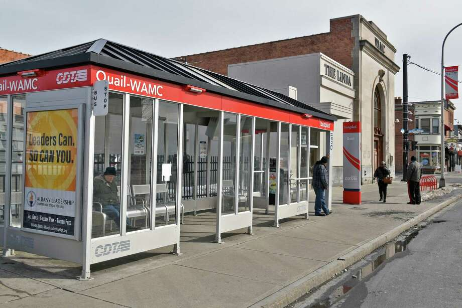 Bus stop at Central Ave. and Quail Street Tuesday Feb. 21, 2017 in Albany, NY.  (John Carl D'Annibale / Times Union) Photo: John Carl D'Annibale / 40039759A