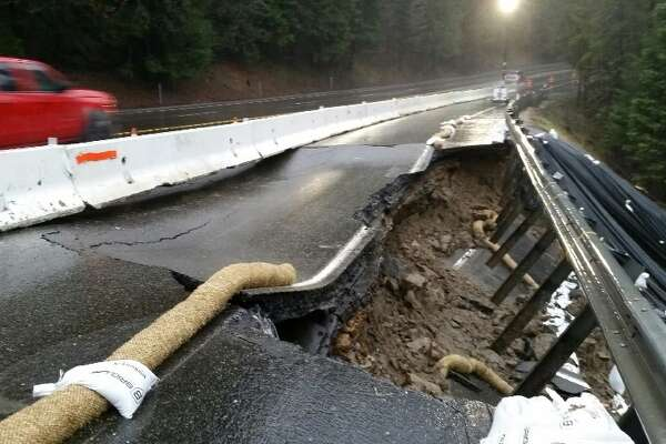 Part of Highway 50 in Sierra collapsed, road closed - SFChronicle com