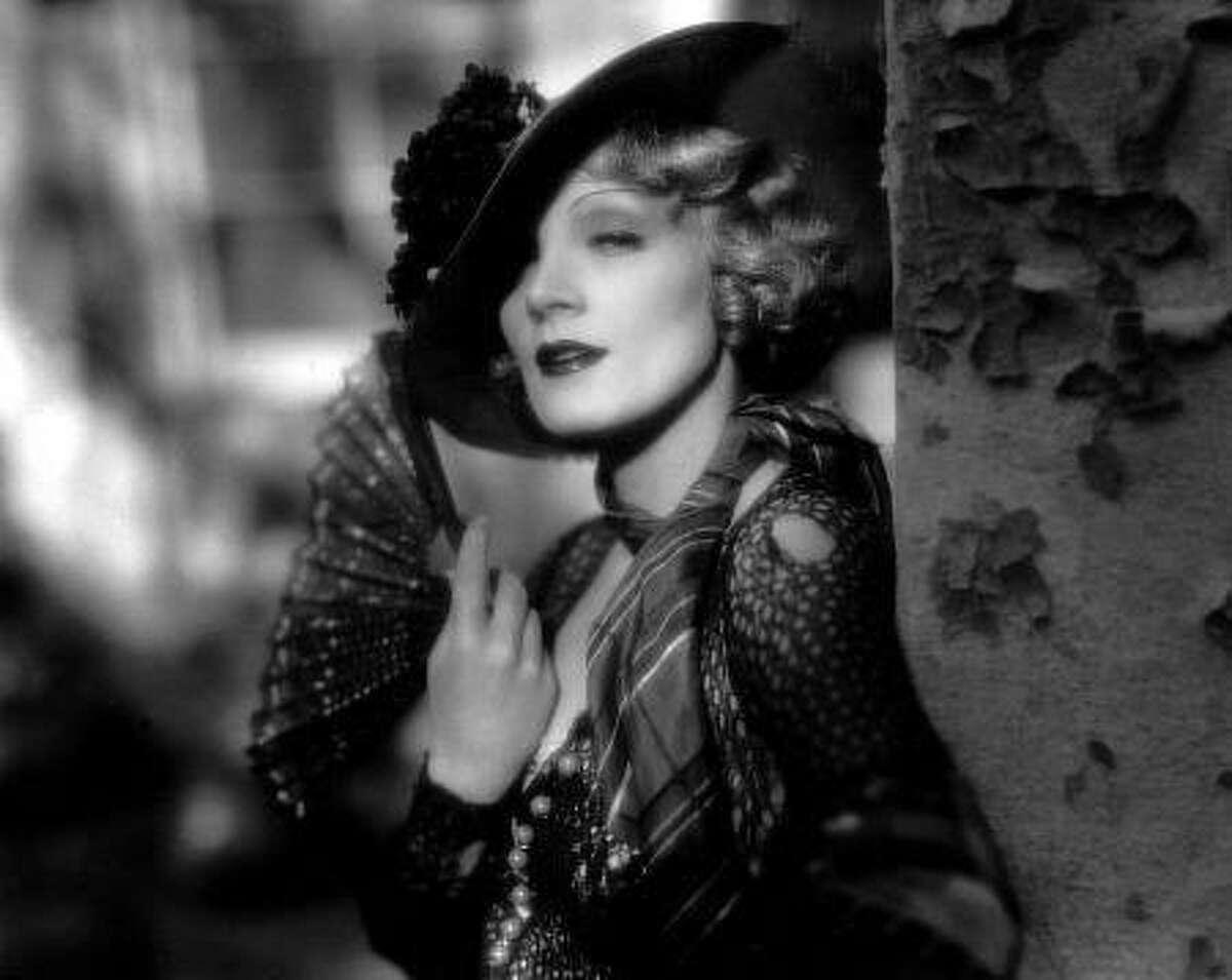 """Marlene Dietrich in """"Blonde Venus."""""""