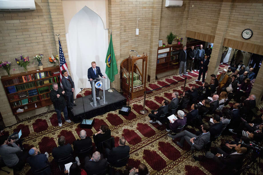 Mayor Ed Murray gives the State of the City address at Idris Mosque on Tuesday, Feb. 21, 2017. Photo: GRANT HINDSLEY, SEATTLEPI.COM / SEATTLEPI.COM