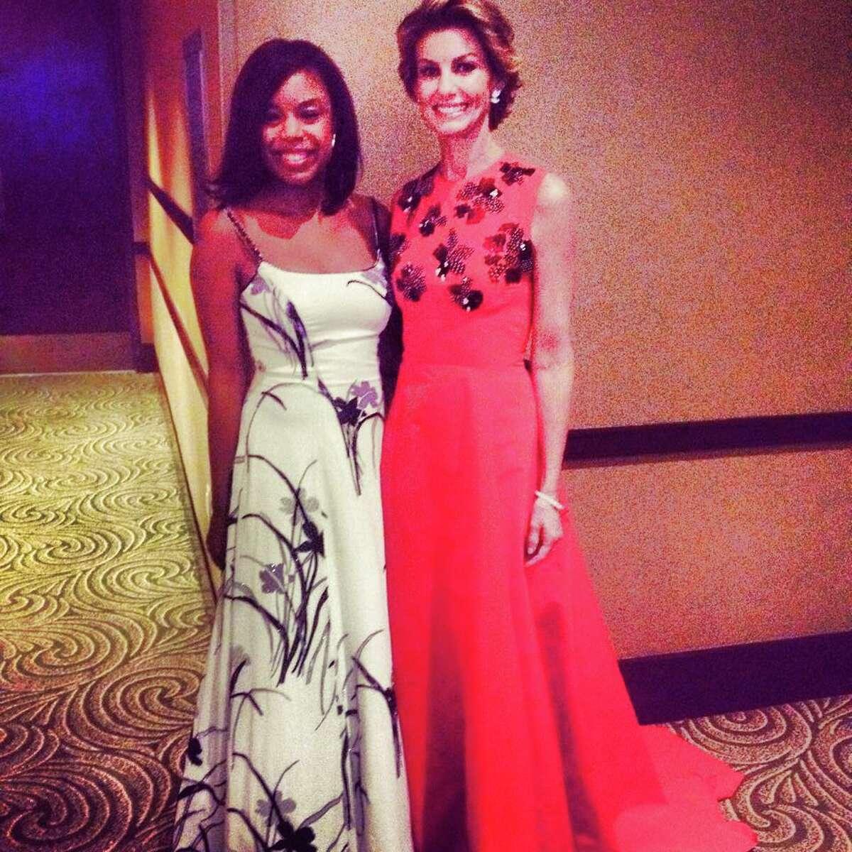 Amber Elliott and Faith Hill at UNICEF's Audrey Hepburn Society Ball 2015.