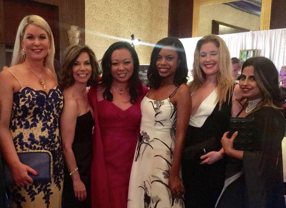 Stephanie Von Stein, Roseann Rogers, Miya Shay, Amber Elliott, Jennifer Roosth, and Ruchi Mukerjee at Winter Ball 2017. Photo: Courtesy Of Miya Shay