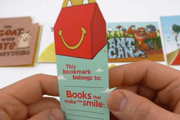 2013: Happy Meal Books:   This is the first year the McDonald's replaced its typical toys with  books  — ones that you actually wanted to read. What's more, they came with cool bookmarks on which you could write your name and the books that made you smile.