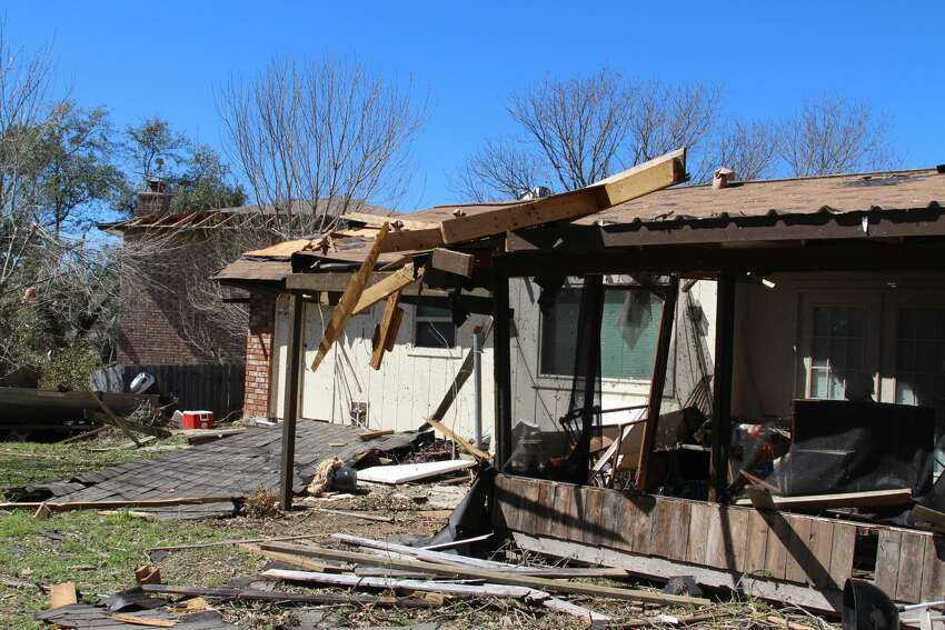 Ed Kirk's home in a cul-de-sac near the intersection of Bellcrest and Oak Climb sustained significant damage on Feb. 19, 2017, when multiple tornadoes moved through San Antonio.